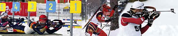 Liegendschießen im Hohenzollern Skistadion
